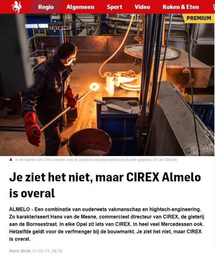 Press release news paper; even if you don't see it, CIREX is everywhere…